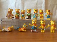 Fremdfiguren Glücksbärchen 1995 Komplet Set mit 1 Bpz. Haribo