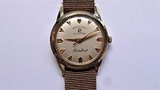 ELECTION Grand Prix Everbest Pie Pan dial gold cap vintage handwinder watch