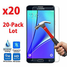 20x Wholesale Lot Tempered Glass Screen Protector for Samsung Galaxy Note 5