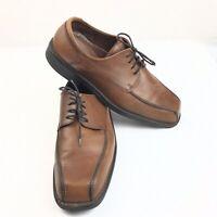 Ecco Mens Shoes Dress Oxford EUR Size 46 US 12 Brown Bicycle Toe Tie Shoe