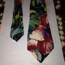 River Island R I Mens Neck Tie Funky Vintage Floral Pattern 100% Viscose
