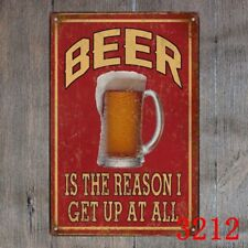 Metal Tin Sign beer is the reason  Decor Bar Pub Home Vintage Retro Poster
