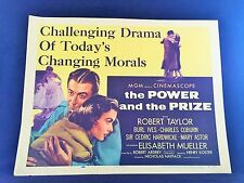 Original 1956 THE POWER AND THE PRIZE Movie Poster 22 x 28 BEAUTIFUL SHAPE!
