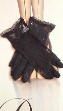 SHORT BLACK / LACE  GLOVES 50s  STYLE