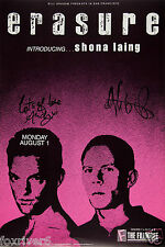 ERASURE Signed Window Poster - Pop Group - preprint