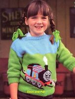 "Knitting Pattern ~Thomas The Tank Engine  Sweater  ~ 20""- 28"" DK Baby Children"