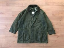 Barbour Men's Border Green Waxed Coat Jacket C46/117CM Fishing Hunting Vintage