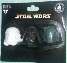 Disney Park Star Wars 3D Erasers Eraser Set Darth Vader Bobba Fett Stormtrooper