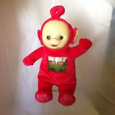 "Red Teletubbies PO with Flamingo Tummy Patch 10"" Plush Doll Baby"