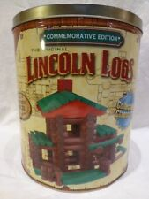 Knex Wood Original Lincoln Logs Cabin Commemorative Edition Wooden Building Set