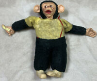 "VTG 18"" MR BIM MONKEY ZIPPY ZIM Stuffed Plush Monkey Banana Rubber Face Superior"