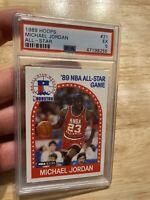 Michael Jordan PSA 5 Card 1989 Hoops #21 Chicago Bull FIGHT INFLATION Last Dance