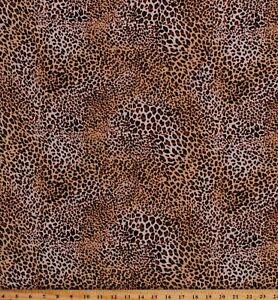 "Rayon Challis Leopard Print Jungle Animal Print 58"" Fabric by the Yard D170.53"