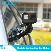 TELESIN Suction Cup Car Mount Holder Flexible for GoPro Hero DJI Osmo Action