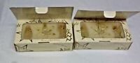 2 Boxes Vintage Avon 1998 Spun Glass Ornaments - 3 per box - Tree, Angel, Star