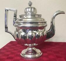 Antique Rare Liberty Browne Silver Teapot c1805 Philadelphia Excellent