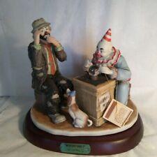 "Large Emmett Kelly Jr ""Misfortune?"" Flambro Ltd Ed Porcelain Figurine Nib"