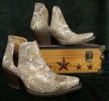 "Ariat Women's~Dixon Western Boot~10029650~6"" Metallic Snake Print Snip Toe~$180"