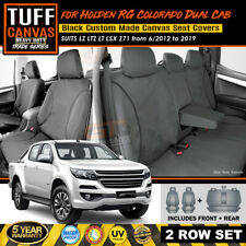 TUFF Canvas TRADE Seat Covers Holden RG Colorado LTZ LZ LT 2Rows 6/2012-19 CHARC