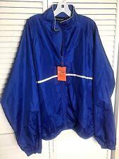Dunbrook Jacket Windbreaker Mens Sz XL Dark Blue Silver Trim Mesh Lining Pockets