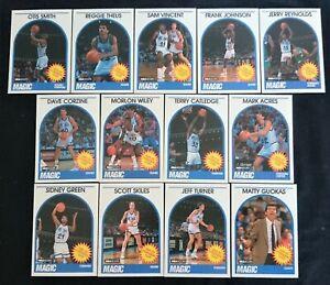 13 x Orlando Magic NBA Hoops 1989 Basketball Cards Team Set inc Rookies