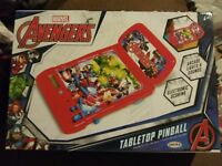 Marvel Avengers Tabletop Pinball Toy Electronic Scoring Arcade Lights & Sounds