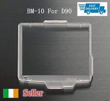 Nuevo BM10 Monitor LCD de plástico dura cubierta protector de pantalla para Nikon D90 DSLR