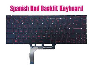 Spanish Red Backlit Keyboard MSI 9S7-16R112 GF63 8RC/GF63 8RD(MS-16R1)
