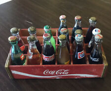 Lot of 15 Coke Coca-Cola, Pepsi, Crush, Yoo-hoo, Frostie And More Mini Bottles