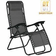 Zero Gravity Recliner Portable Outdoor Chair Reclining Garden Sun Lounger Chair