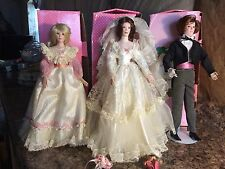 Paradise Galleries Treasury Collection Porcelain Bride, Groom and Bridesmaid