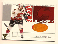 JAROME IGINLA IN THE GAME ITG FINAL VAULT GAME USED JERSEY PATCH 1/1