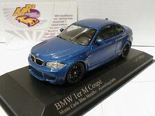 Minichamps 410020026 - BMW 1er M Coupe Baujahr 2011 Monte-Carlo-Blaumet. 1:43