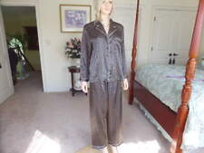 Jones New York Satin Black Print Pajama Set Size S