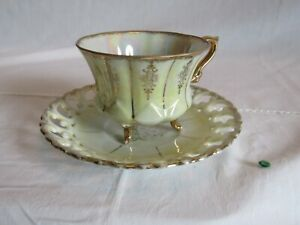 VINTAGE ROYAL SEALY FOOTED TEA CUP & SAUCER, GREAT CONDITION!