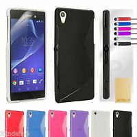S line Gel Silicone CASE COVER For Sony Xperia Z2 FREE SCREEN PROTECTOR