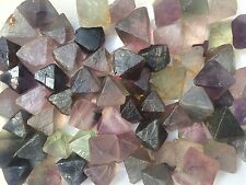 1kg 2.2lb 20-25Pcs Natural Fluorite Quartz Crystal Octahedron Rock Specimen
