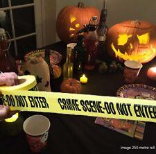 Avvertenza Pericolo Nastro Scena del crimine lungo 20ft FANCY Festa di Halloween Prop