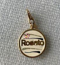 charm ROSATO oro 18 kt smalto gold ciondolo moneta