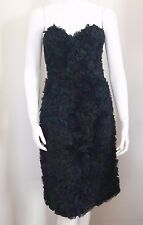 NWT SALVATORE FERRAGAMO FLORAL EMBELLISHED Strapless Cocktail Dress 38 US-2 XS