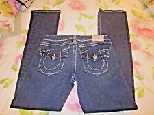 """TRUE RELIGION Womens Jeans Sz 29 X 33  """"Billy""""  SKINNY STRAIGHT Denim Jeans"""