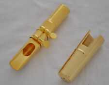 TOP Jazz Metal Baritone Saxophone Mouthpiece Gold Plate size 7 8 9 10 to choose