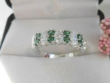 QVC-Diamonique and Simulated Emerald Epiphany Ring Size 6