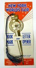 1939 NEW YORK WORLD'S FAIR bookmark unused on card