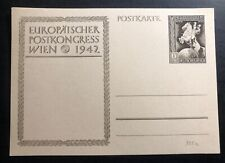 Mint Germany Stationery Postcard Axis Powers Congress 1942