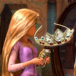Princess Rapunzel Tangled Gold Tiara Crown Halloween Cosplay Props Birthday Gift