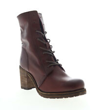 Frye Karen Combat 70861 Womens Brown Leather Lace Up Casual Dress Boots