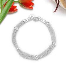 Gift Ladies Women 925 Sterling Silver Jewelry Elegant Bracelet Chain