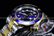 Invicta Mens 47mm Grand Diver Auto Two Tone Blue Dial Stainless Steel Watch 3049