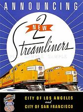 Viajes De Tren Ferrocarril Tren Locomotora De Vapor Nueva California Usa impresión lv4479